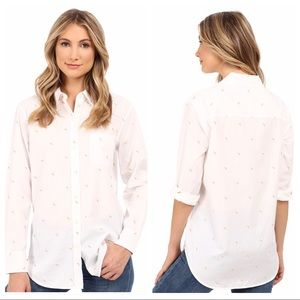 Equipment White Banana Kenton Button Up Sz M NWOT